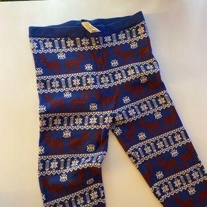 Forever 21 Pants - Forever 21 Navy Christmas Thick Leggings